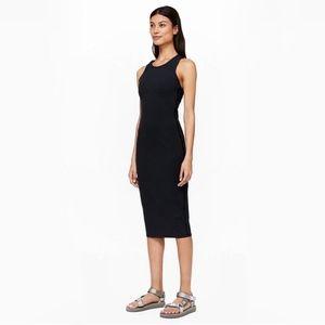 Lululemon Picnic Play Bodycon Black Midi Dress